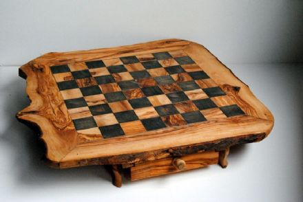 Olive Wood Chess Table
